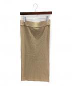 DEUXIEME CLASSE()の古着「リブスカート」|ベージュ