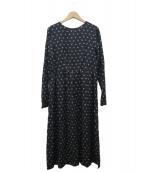 ()の古着「FLOWER PRINT DRESS」|ブラック