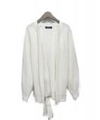 JUSGLITTY(ジャスグリッティー)の古着「着流しゆるニットカーデ」|ホワイト