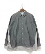 stein(シュタイン)の古着「レイヤードシャツ」|グレー