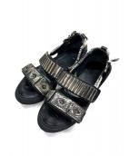 TOGA PULLA(トーガ プルラ)の古着「METAL SNEAKER SANDAL」|ブラック