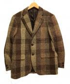 J.PRESS(ジェイプレス)の古着「ハリスツイードジャケット」|ブラウン