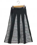 CHESTY(チェスティー)の古着「ツイードニットスカート」 ブラック