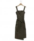 allureville(アルアバイル)の古着「オックスベルトツキジャンパースカート」|オリーブ