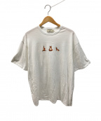 maison kitsune(メゾンキツネ)の古着「YOGA FOXプリントTシャツ」|ホワイト