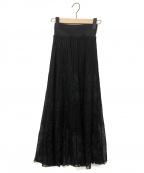 Mame Kurogouchi(マメ クロゴウチ)の古着「ニットスカート」 ブラック