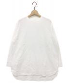 YORI(ヨリ)の古着「ヘムラウンドロンTee」|ホワイト