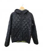 ALPHA()の古着「リバーシブルジャケット」 ブラック×オリーブ