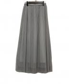SACRA(サクラ)の古着「チュールスカート」|ライトグレー