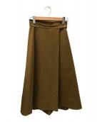 ()の古着「タックフレアスカート」|ブラウン
