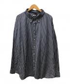 WILLY CHAVARRIA(ウィリーチャバリア)の古着「BIG DRESS SHIRTS」 ブルー×ホワイト