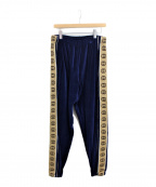 GUCCI(グッチ)の古着「20SS ルーズシェニールジョギングベロアトラックパンツ」|ブルー