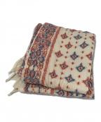 KAPITAL(キャピタル)の古着「刺繍マフラー」|アイボリー