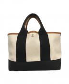 TOPKAPI(トプカピ)の古着「スコッチグレインネオレザー・ミニトートバッグ」|クリーム