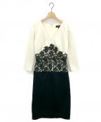 TADASHI SHOJI(タダシ ショージ)の古着「レース切替ワンピース」|ホワイト