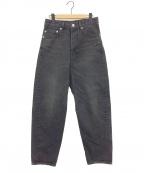 INSCRIRE(アンスクリア)の古着「Deformation pants」|ブラック