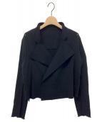 ()の古着「ニットダブルジャケット」|ブラック