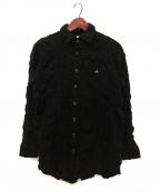 Vivienne Westwood man(ヴィヴィアン ウェストウッド マン)の古着「オーブ刺繍縮絨シャツ」|ブラック