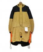 Maison MIHARA YASUHIRO(メゾンミハラヤスヒロ)の古着「ハイブリットマウンテンコート」|ベージュ×オレンジ