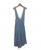 AULA(アウラ)の古着「デニムジャンパースカート」|インディゴ