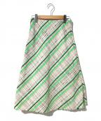 Maison Margiela 4(メゾンマルジェラ4)の古着「ツイードスカート」 ベージュ