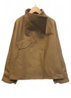 STUNNING LURE(スタニングルアー)の古着「ドルマンショートウールコート」|ブラウン