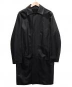 MACKINTOSH()の古着「レザーステンカラーコート」|ブラック