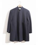 ROBE DE CHAMBRE COMME DES GARCONS(ローブドシャンブル コムデギャルソン)の古着「[OLD]フックボタンマオカラーコート」|ネイビー