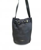 TOPKAPI(トプカピ)の古着「シュリンクレザー バケツ型ショルダーバッグ」|ブラック