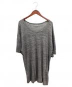 Yohji Yamamoto pour homme(ヨウジヤマモトプールオム)の古着「リネンTシャツ」|グレー