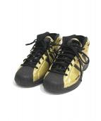 adidas(アディダス)の古着「ハイカットスニーカー」|ブラック×ゴールド