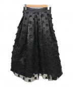 IENA LA BOUCLE(イエナ ラ ブークル)の古着「オーガンジーフラワータックスカート」|ブラック