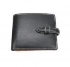 NO BRAND(ノーブランド)の古着「レザー2つ折り財布」 ブラック