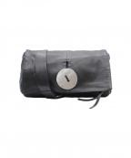kawa-kawa(カワカワ)の古着「フラップレザーショルダーバッグ」|ブラック