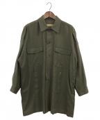 ROBES&CONFECTIONS(ローブス&コンフェクションズ)の古着「ウールサキソニーミリタリーシャツ」|オリーブ