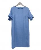 Leilian(レリアン)の古着「袖コンシャスワンピース」 ブルー