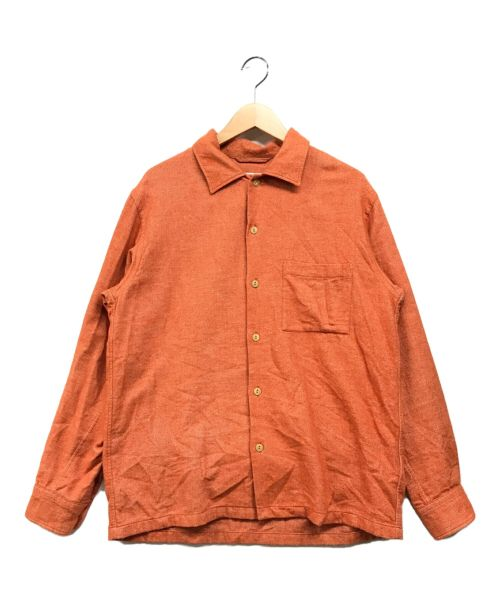 Wild Life Tailor(ワイルドワイフテイラー)Wild Life Tailor (ワイルドワイフテイラー) ヤク起毛オープンカラーシャツ オレンジ サイズ:Mの古着・服飾アイテム