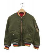 EVISU(エビス)の古着「リバーシブルMA-1ジャケット」|オリーブ