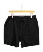 FUMITO GANRYU(フミトガンリュウ)の古着「ナイロンショートパンツ」|ブラック