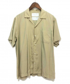 FUMITO GANRYU(フミトガンリュウ)の古着「Watteau pleats Hawaiian shirt」|ベージュ