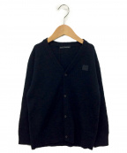 Acne studios(アクネストゥディオズ)の古着「ワンポイントパッチカーディガン」|ブラック