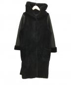 Pelley Lusso()の古着「リバーシブルムートンコート」|ブラック