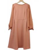()の古着「袖リボンワンピース」|ピンク