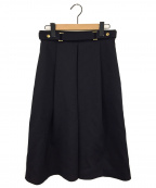 THE RERACS(ザ リラクス)の古着「ウールディーププリーツスカート」|ダークネイビー
