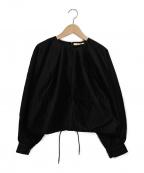 BACCA(バッカ)の古着「コットンモールスキンショートプルオーバー」|ブラック