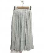beautiful people(ビューティフルピープル)の古着「リネン混ストライプスカート」|ライトブルー