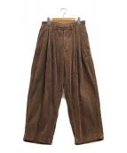 ()の古着「コーデュロイ2タックパンツ」|ブラウン