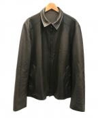 LORO PIANA(ロロピアーナ)の古着「リバーシブルレザージャケット」 ブラウン