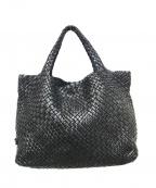 FALORNI(ファロルニ)の古着「メッシュレザートートバッグ」|ブラック