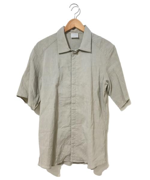 山内(ヤマウチ)山内 (ヤマウチ) デッドストック・ストレッチリネンシャツ ベージュ サイズ:3表記の古着・服飾アイテム